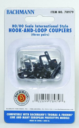 Bachmann Trains Thomas And Friends - Hook And Loop Couplers 3 Pack (Appropriate For Most Thomas And Friends Rolling Stock)