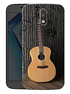 "Guitar And Roses - Music And Love Printed Designer Mobile Back Cover For ""Motorola Moto G4"" (3D, Matte, Premium Quality Snap On Case)"