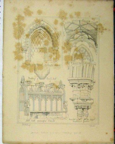 Sedili di Stalla del Coro della Finestra della Chiesa di C1844 Carlington