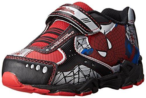 Disney Marvel Spider-Man Athletic 355 Shoe (Toddler/Little Kid), Black, 7 M US Toddler (Marvel Shoes Men compare prices)
