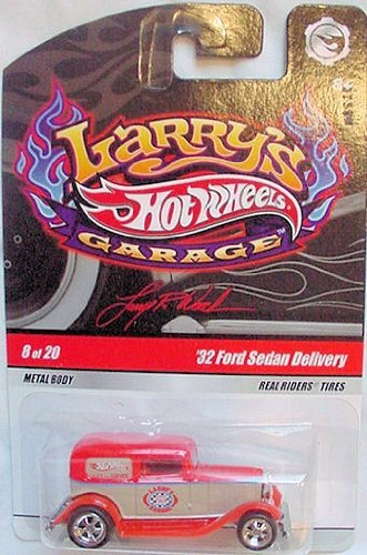 Hot Wheels 2009 Larry's Garage #8/20 '32 Ford Sedan Delivery with Real Riders Tires Collectible Car - 1
