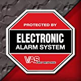 2 VAS #105 Security Burglar Alarm System Home Business Decal Stickers - MADE IN THE USA