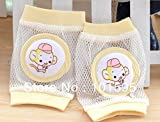 readycor (TM) bebé seguridad rodilleras Niños malla calcetines calentador de pierna almohadillas codo bebé gatear pantalla 2pares/lot rosa rosa
