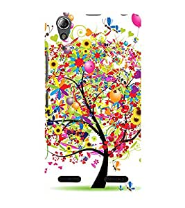 Colorful Tree 3D Hard Polycarbonate Designer Back Case Cover for Lenovo A6000