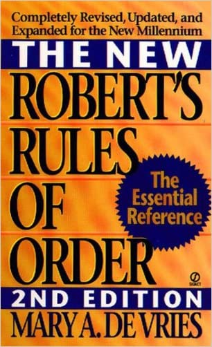 New Robert's Rules Of Order (Turtleback School & Library Binding Edition)