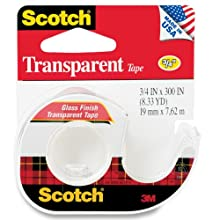 Scotch Transparent Tape, 0.75 x 300 Inches (157S)