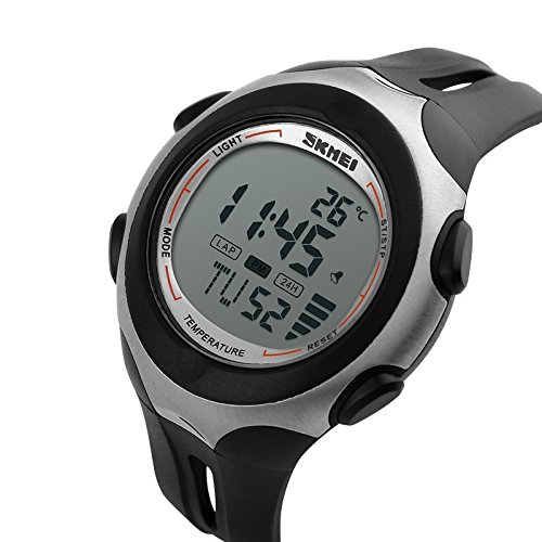 SKMEI Weather Series 1080WHT Digital Sports Watch with Room Temperature Display - White - For Men Boys Girls Women