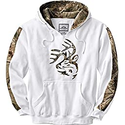 Legendary Whitetails Men's Realtree Camo Outfitter Hoodie White/RTAP X-Large