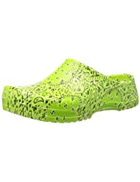 Birkenstock Synthetic-Clogs Super-Birki Light Green Paisley