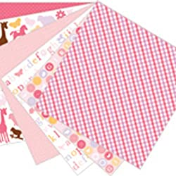 Martha Stewart Crafts Baby Girl Pad, 24 Sheets, 12 by 12 inches