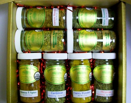 Around The World! Organic Spice Gift Set