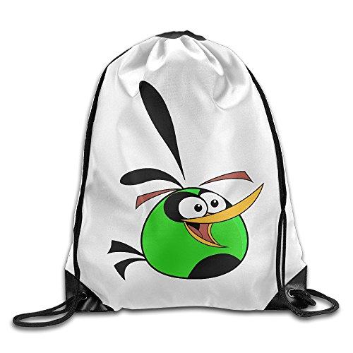 WLF Men's Women's Print Shoulder Drawstring Bag Port Bag Backpacks String Bags School Rucksack Gym Bag Green Orange White. (Jansport Trolley Bags compare prices)