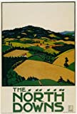 London Underground Poster The North Downs - On Matte Paper A2 Size