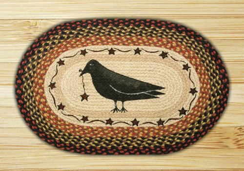 Capitol Importing 65-919CS Crow & Star - 20 inch x 30 inch Oval Patch