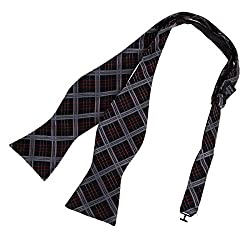 DBA7C06C Black Comfort Groom Checkered Self-tied Bowtie Birthday Men Microfiber Whole Sale Woven Poly Self Bow Ties By Dan Smith