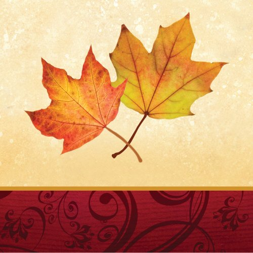 Autumns Gift 3 Ply Beverage Napkins 16 ct Thanksgiving or Autumn Party Supply - 1