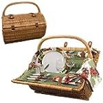 Picnic Time Barrel Picnic Basket, Ser...