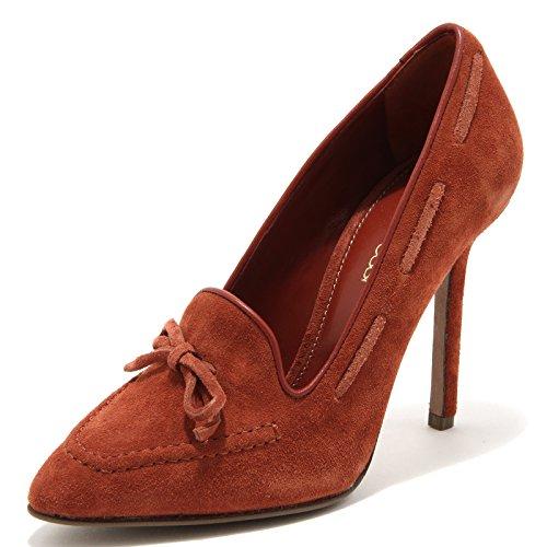 49073 decollete SERGIO ROSSI MATTONE scarpa donna shoes women [40]