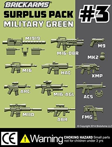 BrickArms-Custom-Surplus-Pack-3-25-Weapons-Pack-13-Piece