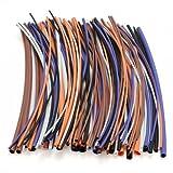 Foxnovo 100pcs 5 Colors 6 Sizes Assortment Ratio 2:1 Polyolefin Heat Shrink Tubing Tubes Sleeving Wrap Wires
