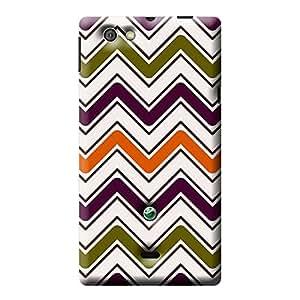 Garmor Check Design Plastic Back Cover For Sony Xperia MIRO ST23i (Check - 8)