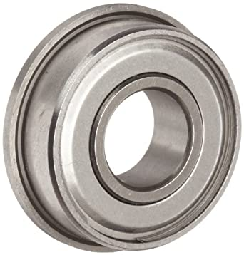 Dynaroll R-Series Ball Bearing, Double Shielded, Flanged, 52100 Chrome Steel