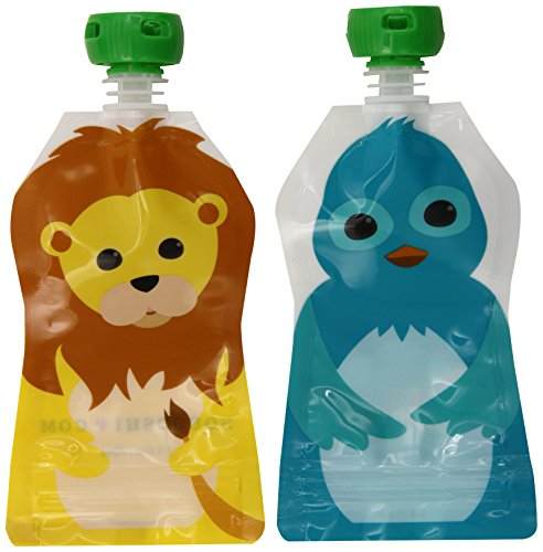 squooshi-10402-reusable-food-pouch-small-25-oz-4-pack-2-lion-2-bluebird
