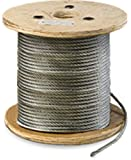 """Galvanized Steel Aircraft Cable Wire 7x19 1/4"""" x 250'"""