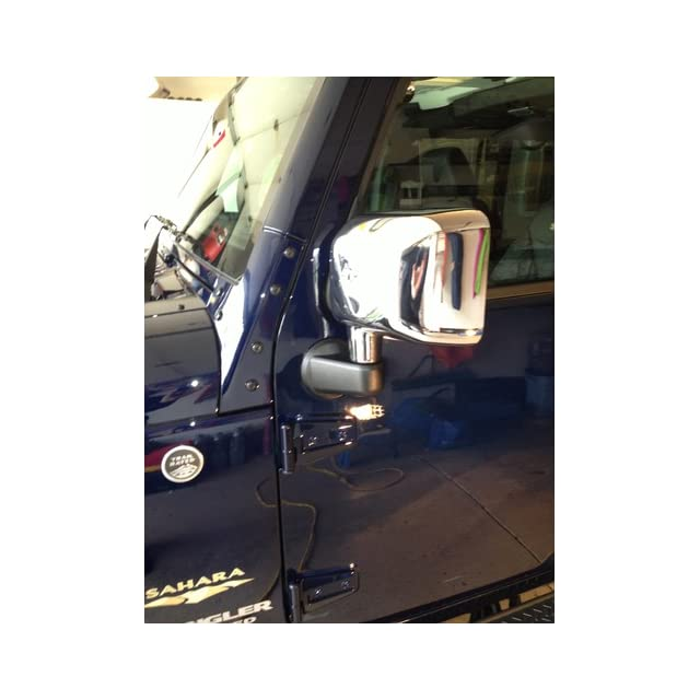 2007 2013 Jeep Wrangler Chrome Mirror Covers (Set of 2)