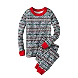 Bluestercool Noël Pyjamas famille Vêtements long coton