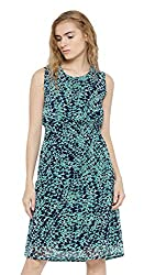 Sera Women's Dress (LA2262-Teal-S, Blue, Small)