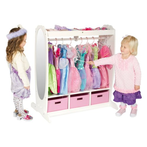Ababy Dress Up Storage Center Play Set, White