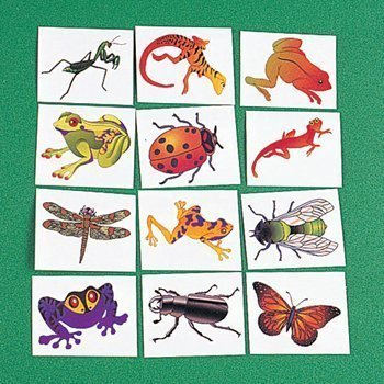 INSECT & REPTILE TATTOOS (216 PIECES) - BULK
