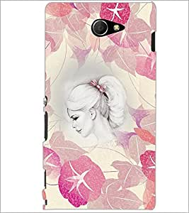 PrintDhaba Cute Face D-4670 Back Case Cover for SONY XPERIA M2 (Multi-Coloured)