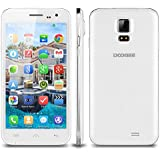 "Doogee Voyager2 DG310 - Smartphone Libre Teléfono Móvil 3G (Pantalla 5.0"" IPS, Android 4.4 MTK6582, Cámara 5.0MP, Quad Core, 1GB RAM 8GB ROM, Dual SIM) Color Blanco"
