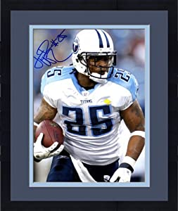 Framed Lendale White Autographed Tennessee Titans Photo - 11x14 - Autographed NFL... by Sports Memorabilia