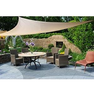 oxid7 wetterfestes sonnensegel dreieck sonnenschutz segel mit uv schutz 5x5 meter. Black Bedroom Furniture Sets. Home Design Ideas