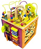 B. Zany Zoo Wooden Activity Cube for Children Ages 1 to 3