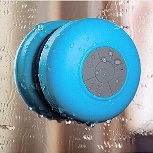 Dealpark Mini Ultra Portable Waterproof Bluetooth Wireless Stereo Speakers With Suction Cup For Showers, Bathroom, Pool, Boat, Car, Beach, Outdoor Etc. | For All Devices With Bluetooth Capability + Siri Compatible - 6 Hours Playtime / With Built-In Mic Fo
