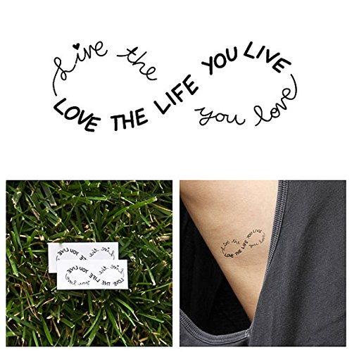Infinity - temporary tattoos (Set of 2) - 1