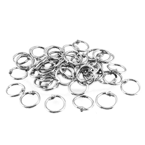 50-pcs-staple-book-binder-20mm-outer-diameter-loose-leaf-ring-keychain