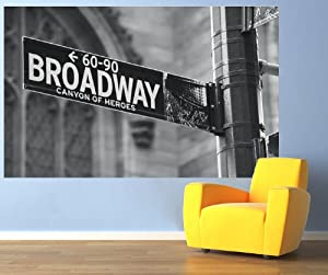 Broadway wall mural new york photo wallpaper self adhesive for Broadway wall mural