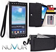   EXPOSE   Black Wristlet Wallet Phone Case Cover May Fit Samsung Galaxy Mega 6.3 I9200 & NuVur…