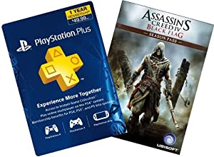 Assassin's Creed IV Black Flag Digital Bundle: Season Pass + 1-Year PS Plus - PS3 / PS4 [Digital Code]