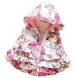 子供の女の子の赤ちゃんのコットンコート冬暖かいジャケット・アウターウェア