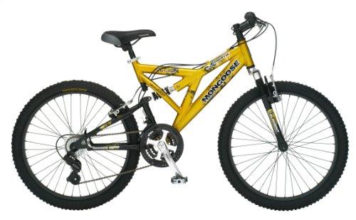 Mongoose Metric Dual-Suspension Mountain Bike (24-Inch Wheels, Gold)