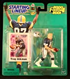 TROY AIKMAN / DALLAS COWBOYS 2000-2001 NFL Starting Lineup Action Figure & Exclusive NFL Collector Trading Card