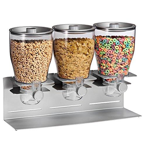 zevro-kch-06151-commercial-plus-dry-food-dispenser-triple-canister-stainless-steel-silver-chrome