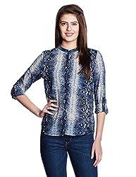 Chemistry Women's Tunic Shirt (C16-645WTSHT_Blue Joe Snake_Large)