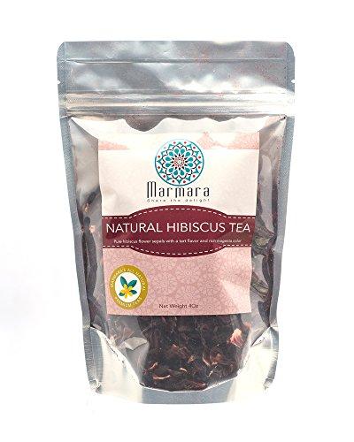 SUPER OCTOBER SALE Marmara All Natural Loose HIBISCUS, Pure Flower Tea 4 OZ (Caja De Aromas compare prices)